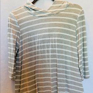 Francesca's | Miami | 3/4 sleeves. Stripes. Small.